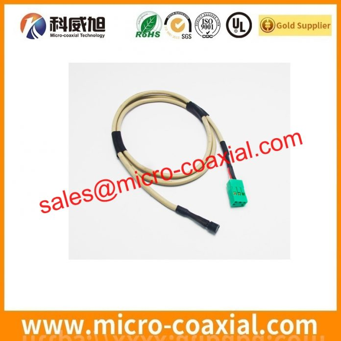 Custom I-PEX 20680-040T-01 micro-miniature coaxial cable I-PEX 20408-Y44T-01F eDP cable assembly Supplier