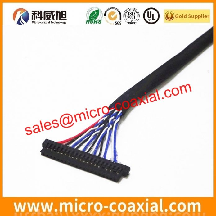I-PEX 20455-040E-99 micro coax cable Assemblies widly used Test Equipment Custom I-PEX 20777-040T-01 eDP LVDS cable Taiwan