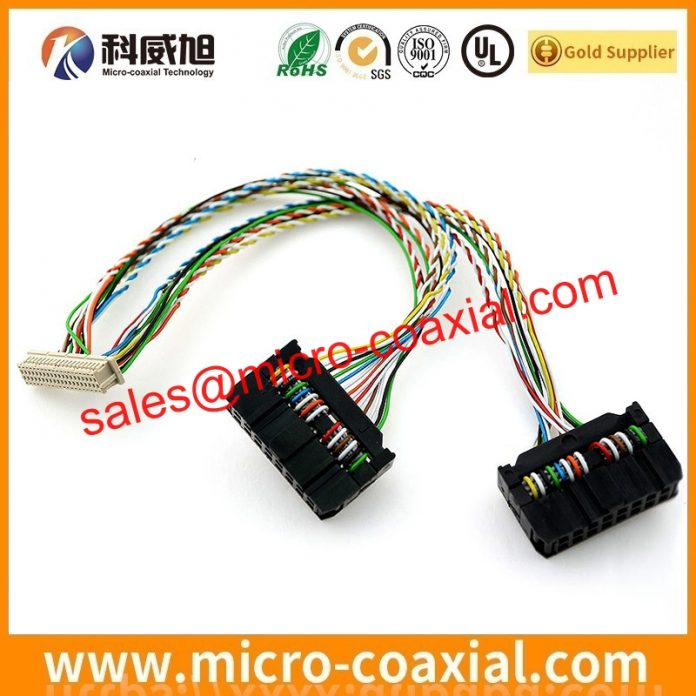 I-PEX 20525-230E-02 fine micro coax cable assemblies widly used Flight Control Systems customized I-PEX 20373-R10T-03 LVDS cable eDP cable Chinese