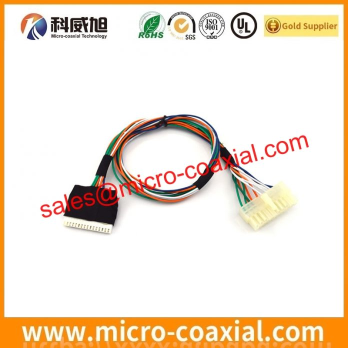 custom I-PEX 2453-0211 fine micro coax cable I-PEX 3427-0401 Screen cable assembly manufacturer