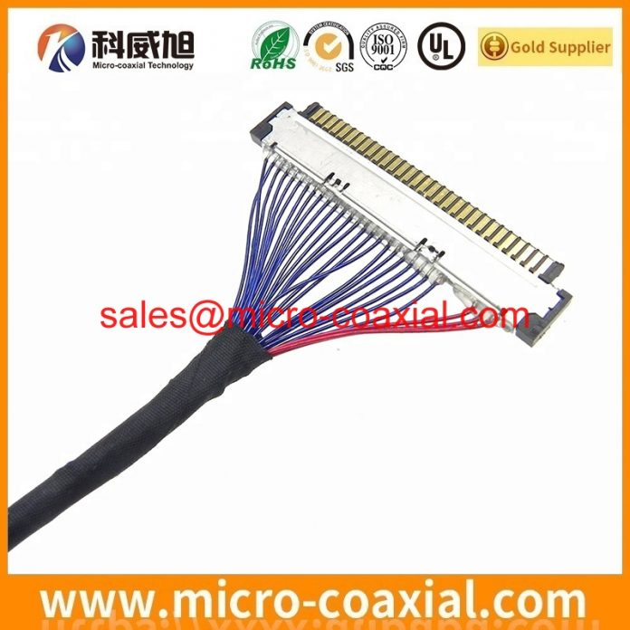 customized I-PEX 2679-040-10 MFCX cable I-PEX 20680-050T-01 LVDS cable assemblies manufactory